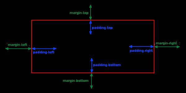 margin padding Diagramm