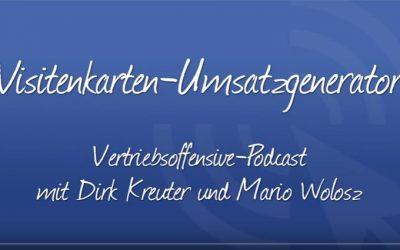 Marketing-Sensation: Visitenkarten-Umsatzgenerator
