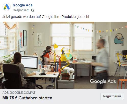 gutes Beispiel einer Facebook Werbeanzeige
